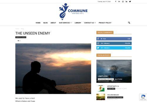 communewriters.com.ng Desktop Screenshot