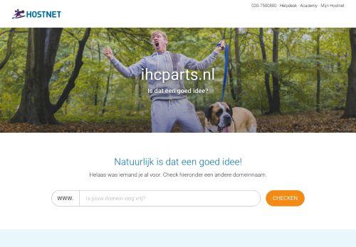 ihcparts.nl Desktop Screenshot