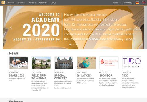 mendelssohn-akademie.de Desktop Screenshot