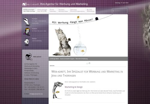 webadrett.de Desktop Screenshot