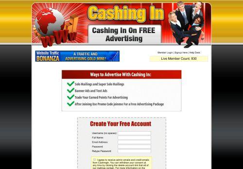 cashingin.me Desktop Screenshot
