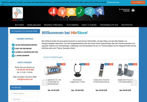 hoerstore.de Desktop Screenshot