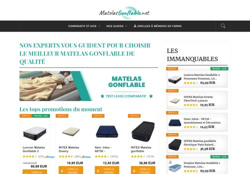 matelasgonflable.net Desktop Screenshot