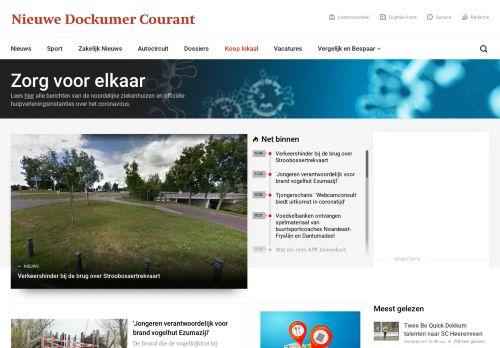 nieuwedockumercourant.nl Desktop Screenshot