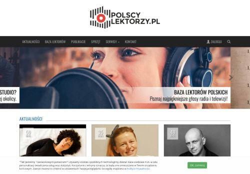polscylektorzy.pl Desktop Screenshot