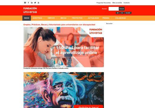 fundacionuniversia.net Desktop Screenshot