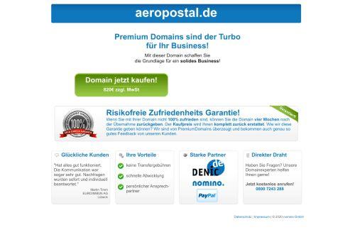 aeropostal.de Desktop Screenshot