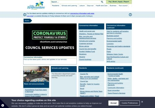 eastrenfrewshire.gov.uk Desktop Screenshot