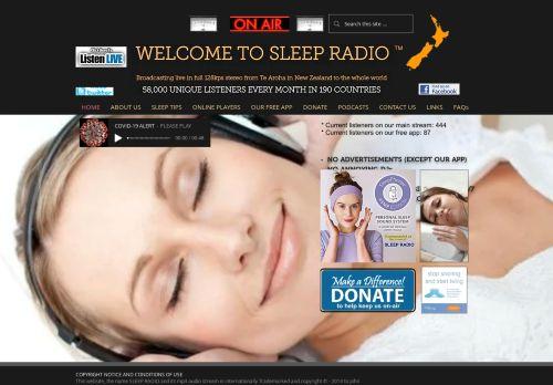 sleepradio.co.nz Desktop Screenshot