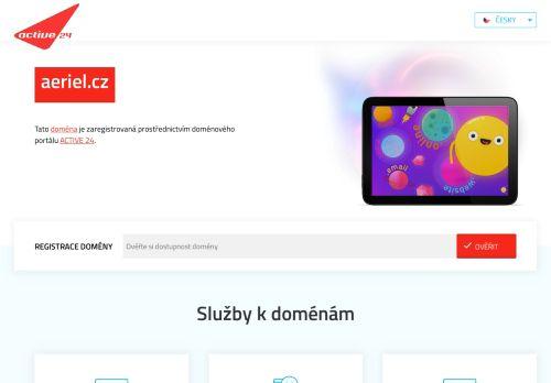 aeriel.cz Desktop Screenshot