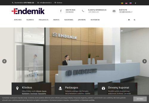 endemik.lt Desktop Screenshot