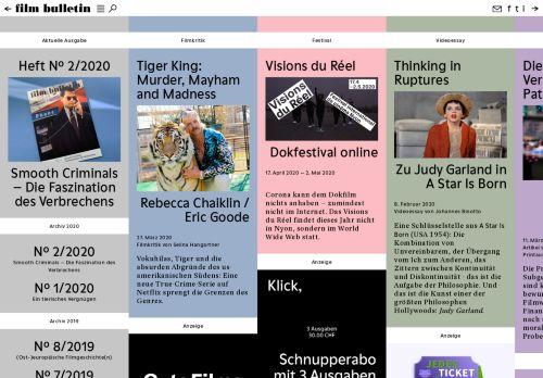 filmbulletin.ch Desktop Screenshot