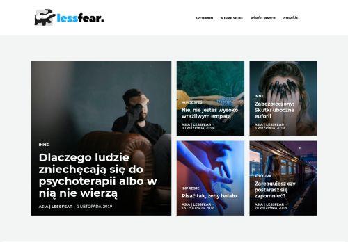 lessfear.pl Desktop Screenshot