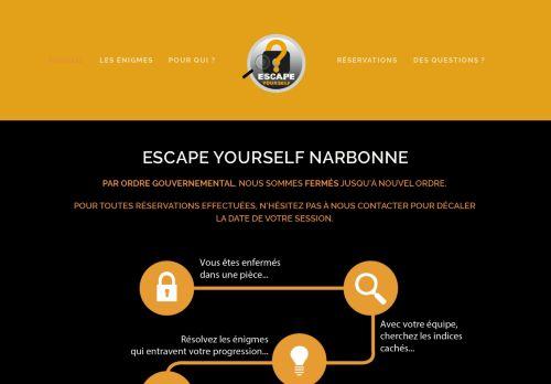 escapeyourselfnarbonne.fr Desktop Screenshot