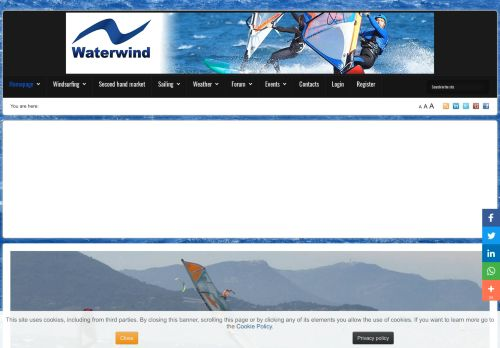 waterwind.it Desktop Screenshot