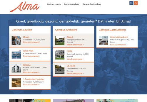 alma.be Desktop Screenshot