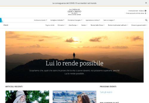 chiesadigesucristo.it Desktop Screenshot