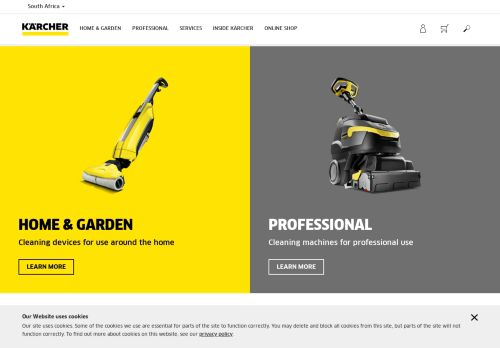 karcher.co.za Desktop Screenshot