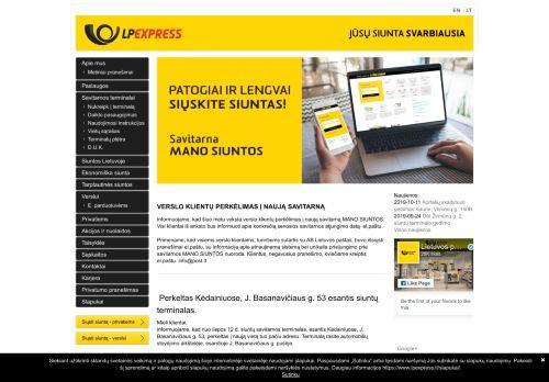 lpexpress.lt Desktop Screenshot