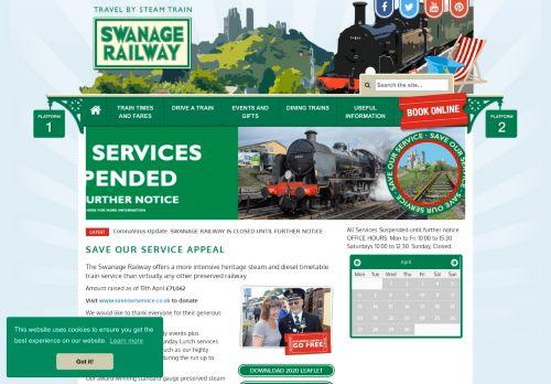 swanagerailway.co.uk Desktop Screenshot