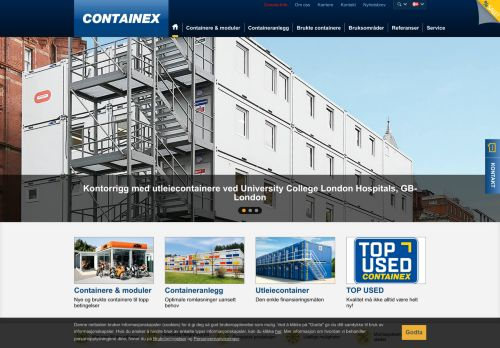 containex.no Desktop Screenshot