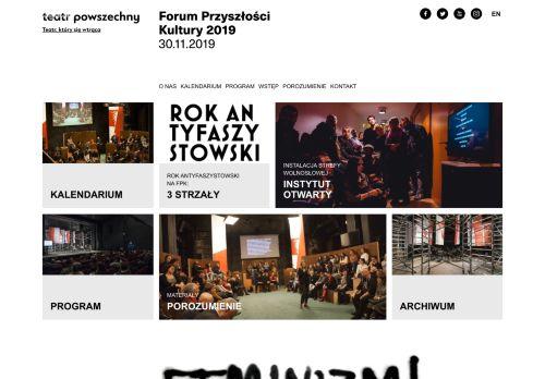 forumprzyszloscikultury.pl Desktop Screenshot