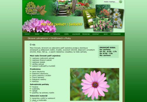 zahradnictvi-chrastany.cz Desktop Screenshot