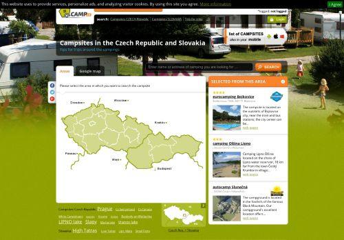 camp.cz Desktop Screenshot
