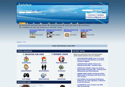 earlyface.com.ng Desktop Screenshot