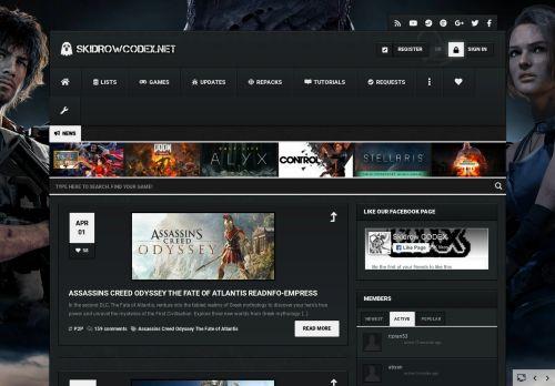 skidrowcodex.net Desktop Screenshot