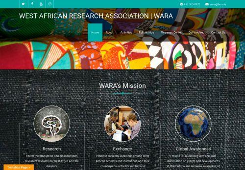 westafricanresearchassociation.org Desktop Screenshot
