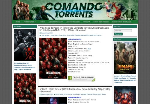 comandotorrents.org Desktop Screenshot