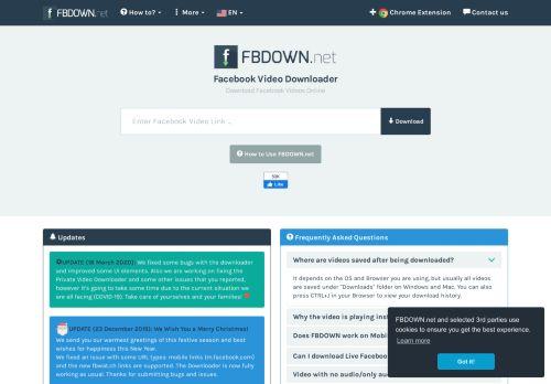 fbdown.net Desktop Screenshot