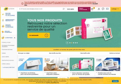 laposte.fr Desktop Screenshot