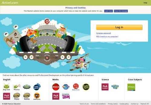 activelearnprimary.co.uk Desktop Screenshot