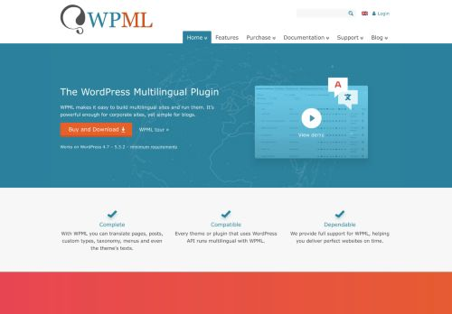wpml.org Desktop Screenshot
