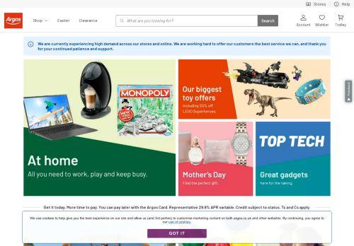 argos.co.uk Desktop Screenshot
