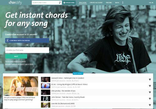 chordify.net Desktop Screenshot