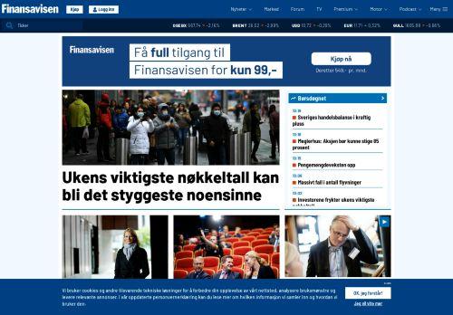 finansavisen.no Desktop Screenshot
