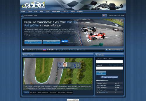 gpro.net Desktop Screenshot