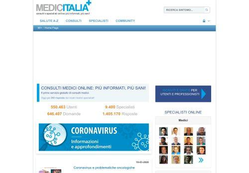 medicitalia.it Desktop Screenshot