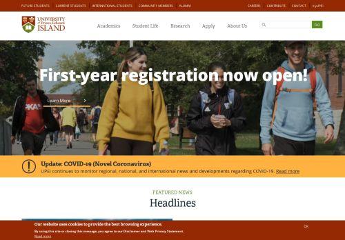 upei.ca Desktop Screenshot