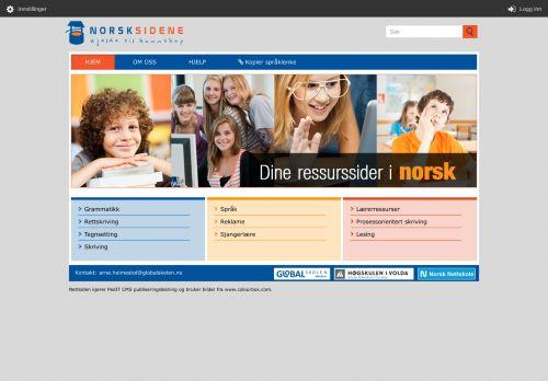 norsksidene.no Desktop Screenshot