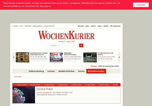 wochenkurier.info Desktop Screenshot