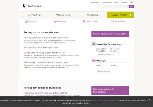 lanekassen.no Desktop Screenshot