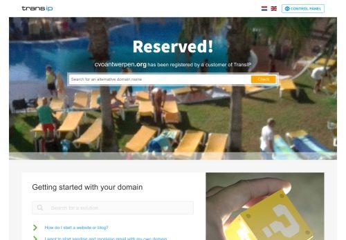 cvoantwerpen.org Desktop Screenshot