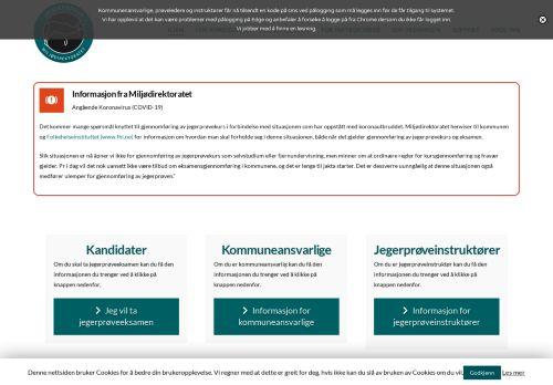 jegerproveeksamen.no Desktop Screenshot