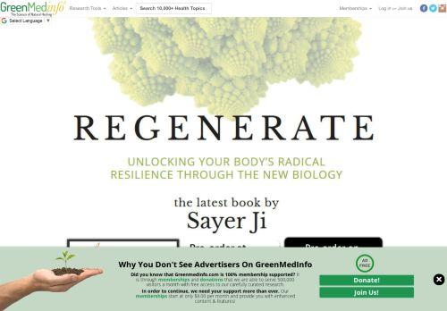 greenmedinfo.health Desktop Screenshot