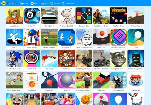 hoopgame.net Desktop Screenshot