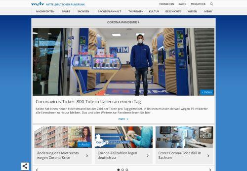 mdr.de Desktop Screenshot